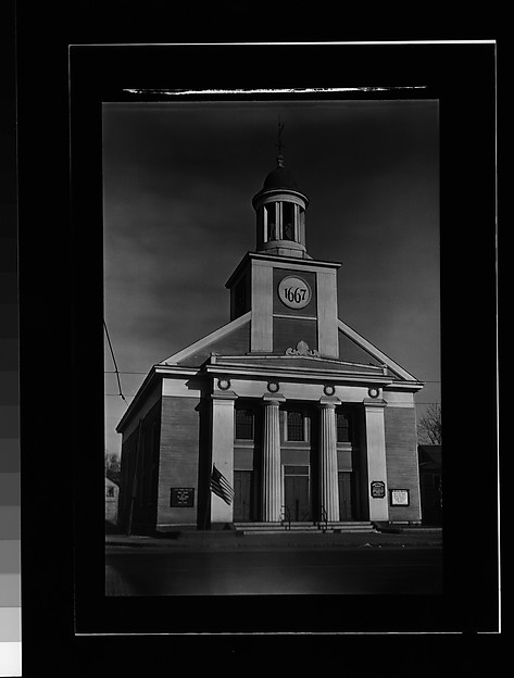 "[Greek Revival Church with Date Placard ""1667"", Beverly, Massachusetts]"