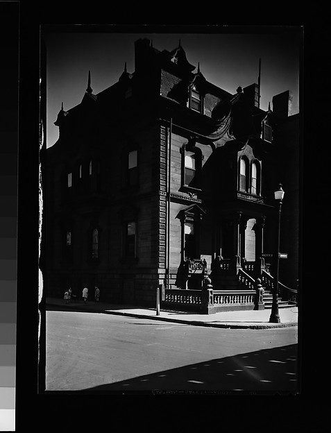 [House with Mansard Roof on Worcester Square, South End, Boston, Massachusetts]