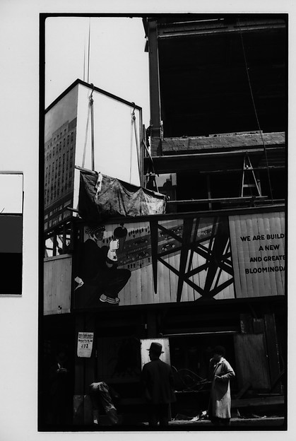[Billboard at Bloomingdale's Construction Site, Fifty-Ninth Street, New York City]