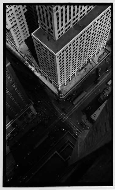 [Intersection and Corner of Chrysler Building, From Roof of Chanin Building, New York City]