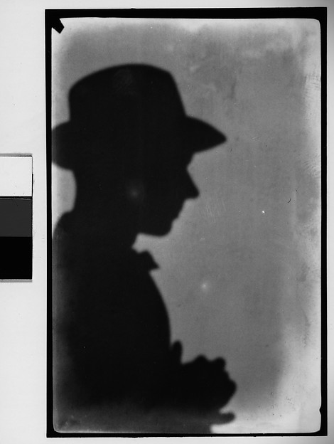 [Shadow Self-Portrait (Right Profile, Wearing Hat), Juan-les-Pins, France]