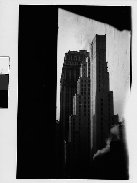 [Cityscape with Step-Back Buildings, New York City]