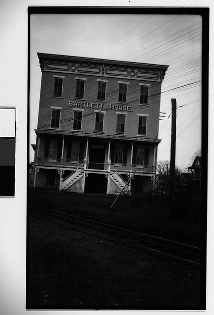 [Bartlett House Hotel, Seen from Across Railroad Tracks, Ghent, New York]