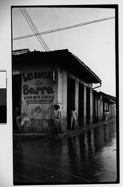 """[Street Scene in Front of Restaurant """"Las Brisas Barra"""", Havana]"""
