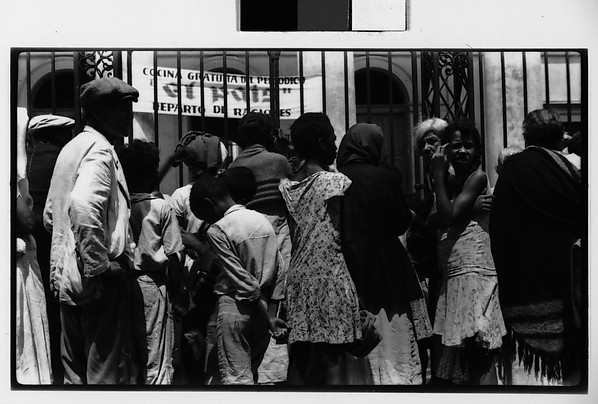[People Waiting for Food Rations, Havana]