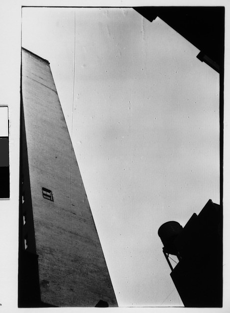 [Architectural Abstraction of Buildings and Watertower, From Below, New York City]