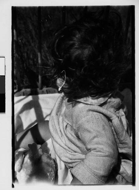 [Ezra Shahn with Back Turned, Cape Cod?, Massachusetts]