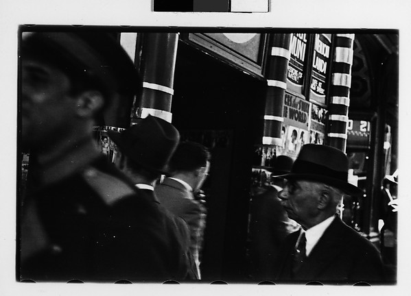 [Crowd Outside Movie Theater Ticket Window, New York City]