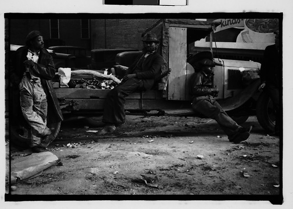 [Men Seated and Leaning on Truck, Georgia]