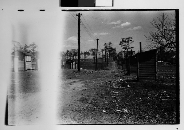 [Wooden Shacks on Dirt Road, Southeastern U.S.]