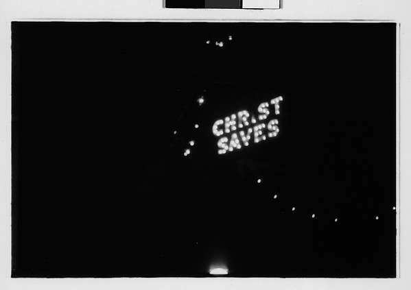 "[Neon Sign at Night: ""Christ Saves"", Pennsylvania]"
