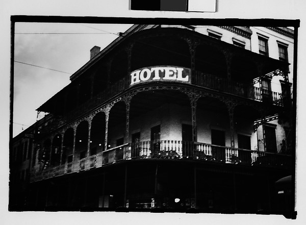 [Cast-Iron Grillwork on Hotel Balconies, New Orleans, Louisiana]