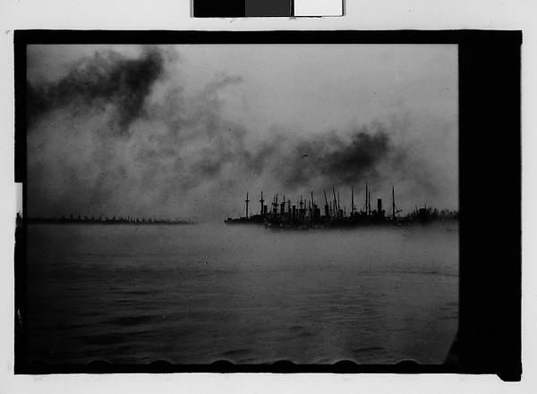[Ships in Foggy Harbor, New Orleans Vicinity, Louisiana]