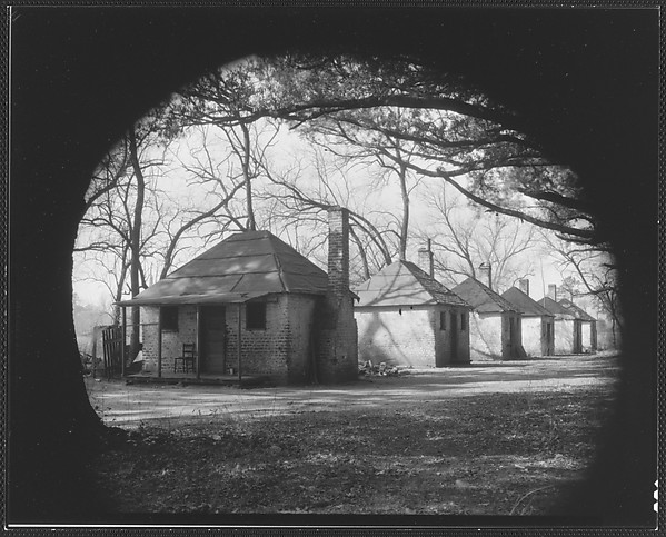 [Row of Brick Slave Cabins at Hermitage Plantation, Near Savannah, Georgia]
