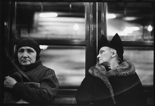 [Subway Passengers, New York City: Two Elderly Women]