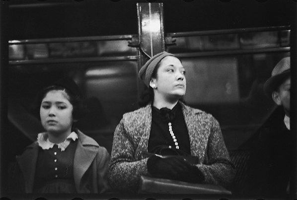 [Subway Passengers, New York City: Mother and Daughter]