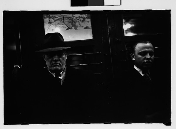 [Subway Passengers, New York City: Two Men in Suits]