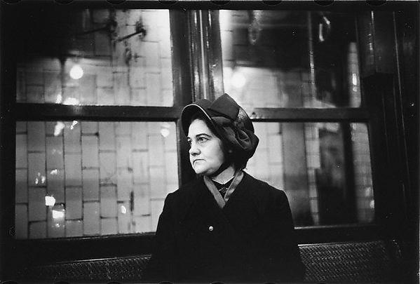 [Subway Passenger, New York City: Woman in Black Bonnet]