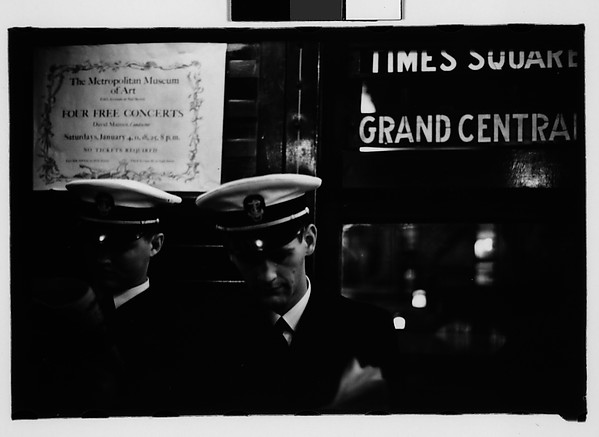 [Subway Passengers, New York City: Sailors on Times Square Shuttle]
