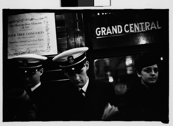 [Subway Passengers, New York City: Sailors, Young Woman on Times Square Shuttle]