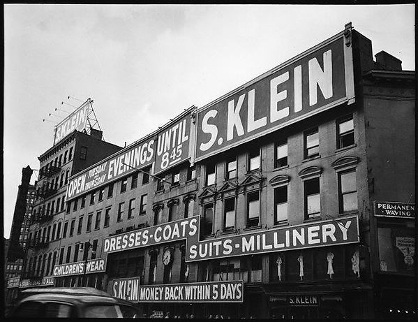 [S. Klein-on-the-Square Department Store, Union Square East, New York City]