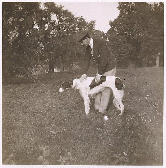 [Adolph de Meyer and His Dog]