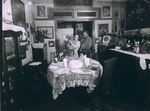 [Mr. & Mrs. James VanDerZee in their Dining Room]