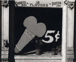 [Ice Cream Store Sign Painted on Window, Bowling Green, Virginia]