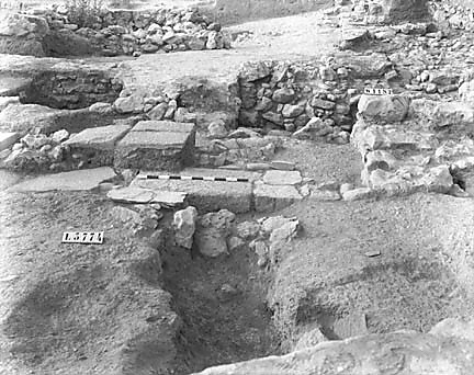 Hebrew University of Jerusalem, Hatzor Excavation. Shore Negative #40