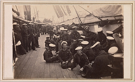 [Sailors on the Deck of the U.S.S. Hartford]