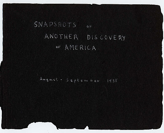 Snapshots of Another Discovery of America, August-September, 1935