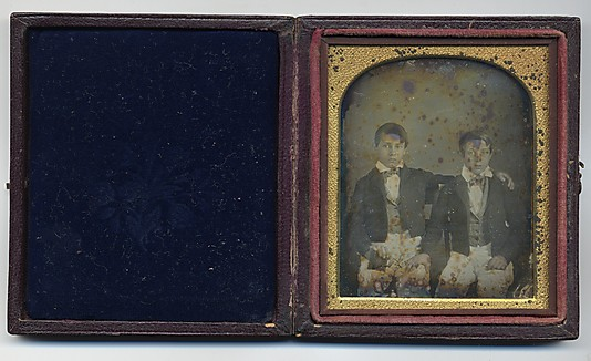 [Two Brothers, One Holding A Daguerreotype Case]