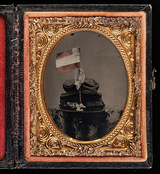 [Soldier's Kepi with First National Flag of the Confederacy]