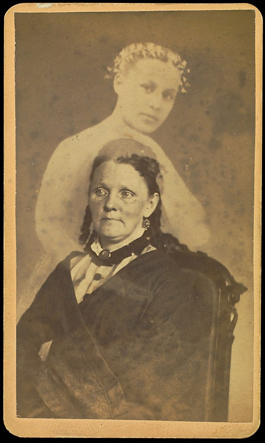 [Unidentified Woman Seated with a Female Spirit]