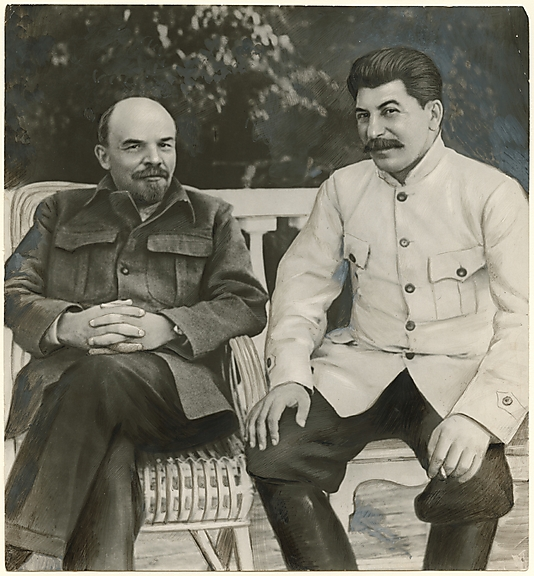 Lenin and Stalin in Gorky, 1922
