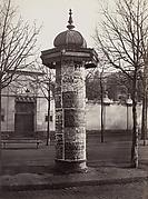 Colonne-affiches pour les Théâtres, menuiserie, fonte et zinc (Cie Morris) (Poster Column for Theatres, Housewares, Iron, and Zinc [Morris Company])
