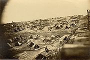 Thirty-three Thousand Prisoners in Bastile. South-west View of Stockade, Showing the Dead Line, Andersonville Prison, Georgia