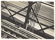 [Elevated Train Tracks and Street Below, Brooklyn Bridge, New York City]