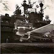 "[Navy Hellcat Roars off Flight Deck of ""The Blue Ghost"" - The USS Lexington]"