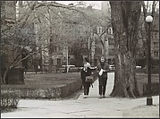 "[Couple on Footpath, Yale University Campus, New Haven, Connecticut Possibly for Unpublished Fortune Portfolio ""The Clothes""]"