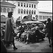 [Women Seated on Benches, St. Petersburg, Florida]