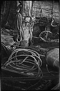 [Ship Rigging and Tackle Detail, Possibly Fulton Market Docks, New York]