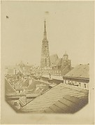 [View of the rooftops and cathedral of Vienna]