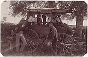 [Group with Horse-Drawn Carriage]