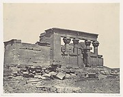 Nubie. Temple de Déböd. Parembole de l'itinéraire d'Antonin