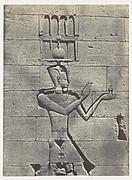 Nubie. Kalabscheh. Sculptures de la Facade postérieure du Temple