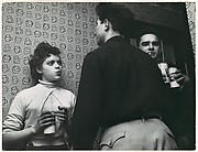 "[Young Woman and Two Men with Cans of Rheingold Beer in Apartment: From ""The Fighter,"" Pageant Magazine, February 1954]"