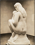 """Mother and Child"" by William Zorach, from the back"