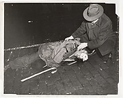 Tramp on Lower East Side Hit by a Taxi