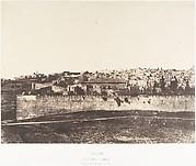 Jérusalem, Enceinte du Temple, Vue générale de la face est, Pl. 1